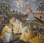 Rome - mosaic - Prayer of Jesus in Gethsemane garden in basilica of st. Peters - last super