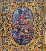 VENICE, ITALY - MARCH 12, 2014: Ceiling of  Cappella della SS. Vergine del Rosario from 17. cent. in Basilica di san Giovanni e Paolo church.