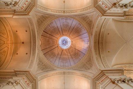 BRUSSELS, BELGIUM - JUNE 16, 2014:  The cupola of church Eglise de St Jean et St Etienne aux Minimes.
