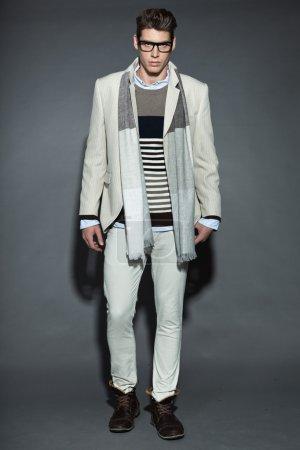 Man winter fashion.