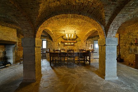 Interior cellar of the castle Lavaux-Sainte-Anne. Rochefort. Ard