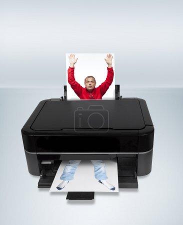 Printing man