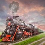 Retro Soviet steam locomotive...