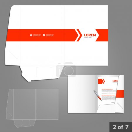 Folder template design for company