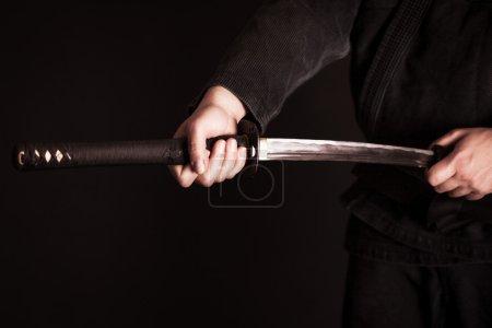 Man with katana