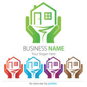Company (Business) Logo Design Vector House Tree