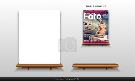Wooden shelf (rack) for magazines and articles