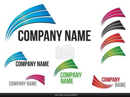 Компания Бизнес Логотип Designvector Дуги