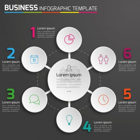 Illustration for Infographic vector for various usages. - Royalty Free Image