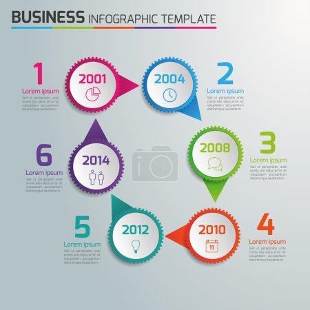 Illustration pour Vecteurs d'infographie pour différents usages . - image libre de droit