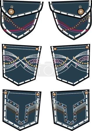 denim back pockets design