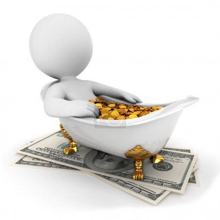 3d white takes a money bath