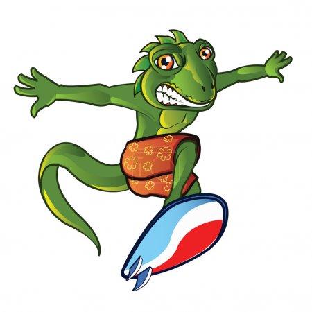 Surfing Lizard