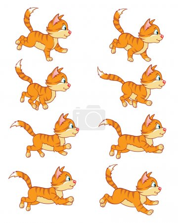 Running Cat Animation Sprite for game...