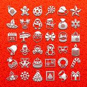 Christmas icons - white set