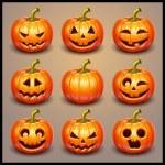 Set pumpkins for Halloween...