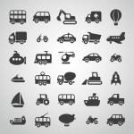 Transportation icon set...
