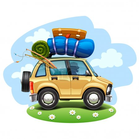 Illustration for Travel car.Vector Illustration - Royalty Free Image