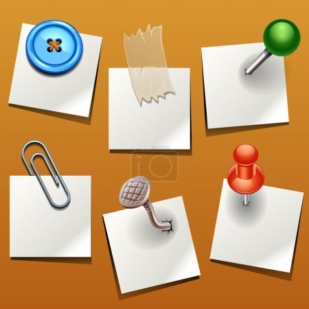 Illustration for Vector push pin various - Royalty Free Image
