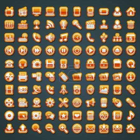 100 vector orange icons