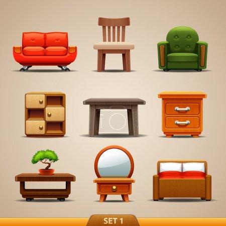 Illustration for Furniture icons-set 1 - Royalty Free Image