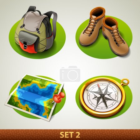 Illustration for Vector tourism icon-set 2 - Royalty Free Image