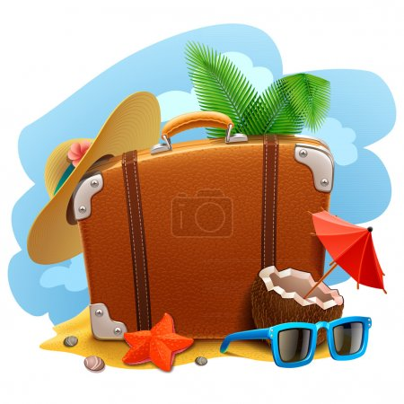 Travel suitcase icon...