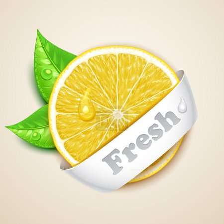 Illustration for Fresh lemon - Royalty Free Image