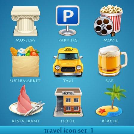 Foto de Viajes icono conjunto-1 - Imagen libre de derechos