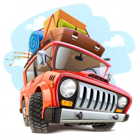 Illustration for Vector travel car - Royalty Free Image
