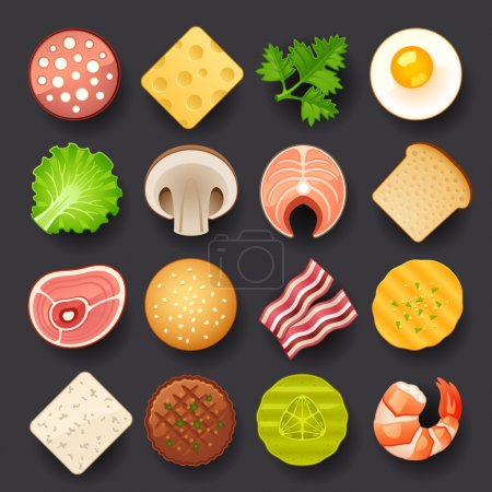 Illustration for Food icon set - Royalty Free Image