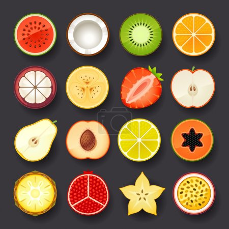 Fruit icon set