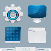 Futuristic multimedia devices and technology icon