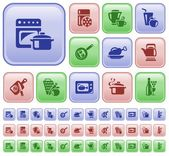 Kitchen and cooking buttons