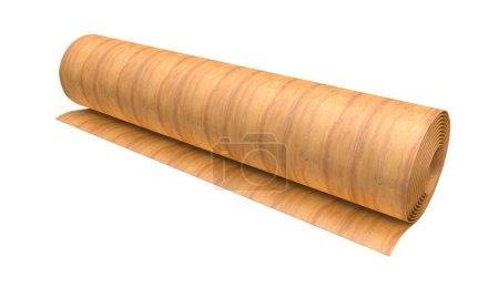 Roll of thin veneer sheet