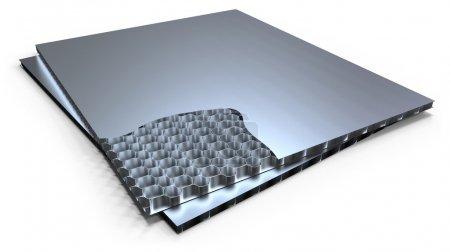 Metal honeycomb panel