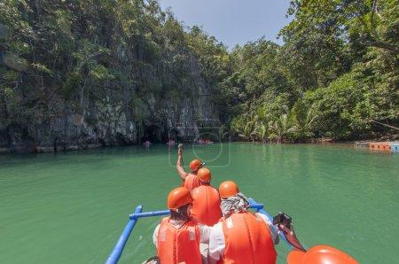Boat near Subterranean River. Puerto Princesa, Philippines