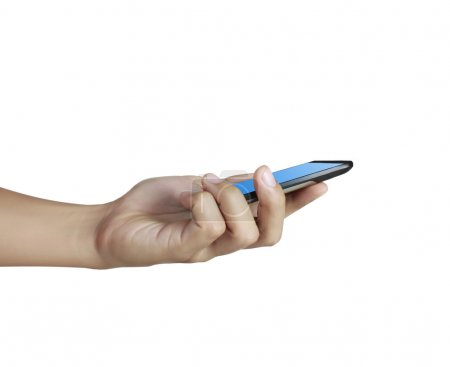 Touch screen mobile phone, in hand Touch screen mobile phone