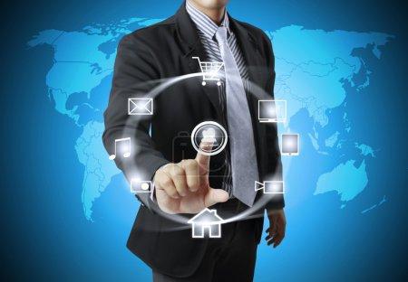 Foto de Estructura de la red social de negocios - Imagen libre de derechos