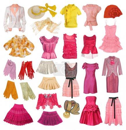 Photo pour Collection de vêtements pour femmes - image libre de droit
