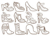 fashion shoes collection (coloring book)