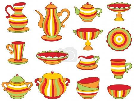 tea set (vector illustration)