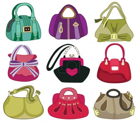 collection og fashion handbag (vector illustration)