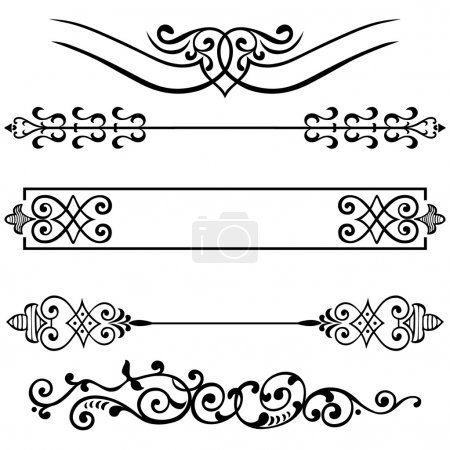 Vector set calligraphic design elements