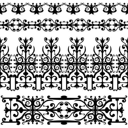 Seamless pattern, swirling elements