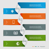 Modern infographics design business options banner can be used for diagram horizontal cutout lines number options step up options web template illustration
