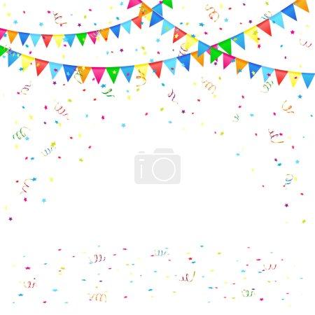 Festive background with confetti