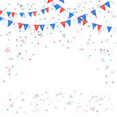 Independence day background with confetti