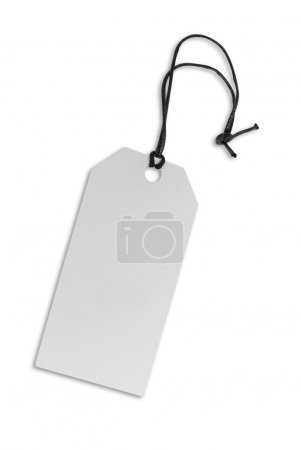 Label tag made of carboard isolated on white