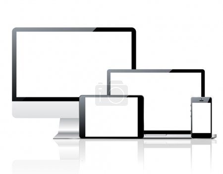 Computer monitor, smartphone, laptop and tablet pc